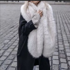 Zara Oversize Wraparound Faux Fur Scarf